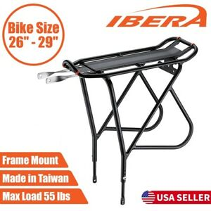 Ibera Bike Rear Rack Carrier Non-Disc Brake Mount Road MTB Luggage Pannier Rack