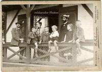 Urlaub auf Balkonien, Orig.-Kabinett-Photo von 1902