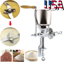 Manual Hand Grain Grinder Cereal Mill Flour Coffee Food Wheat Powder Machine US