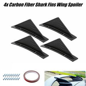 Shark Fins 4 Wing Car Bumper Lip Diffuser Splitter Spoiler Carbon Fiber Color