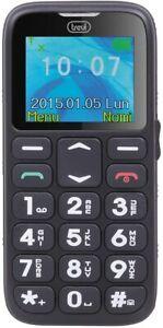 Telefono cellulare con tasti grandi per anziani, SOS, Base di ricarica Trevi