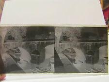 ancien plaque verre stereo photo paris quai d'anjou pont marie eglise st gervais