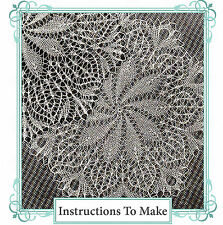 Vintage knitting pattern-Make 2 very old lace doily patterns to make-reprints