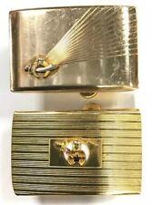 """Pair of Vintage Shriner's 1/20 12Kt Gold Filled Belt Buckles for 1"""" Wide Belts"""