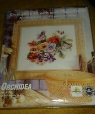 Orchidea art 8100 Flowers Pansies 15 x 11 counted cross stitch kit NEW