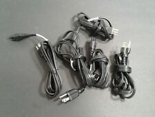(5)  3 Prong AC (Mickey Mouse Style) Clover Power Cord Cable