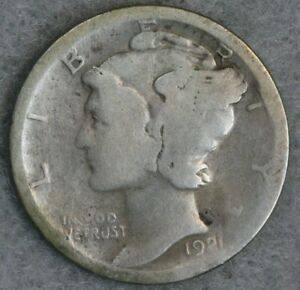 1921-D 10C Mercury Silver Dime Album Set Break High Grade Collection