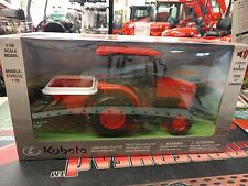 Toy Kubota L6060 Farm Tractor with Spreader 1:18 Scale p/n 77700-05494