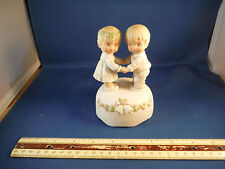 """Vintage Married Couple """"Love Makes World Go Round"""" Music Box"""