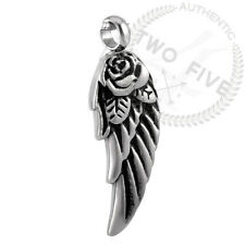 Cremation Jewelry Winged Rose Pendant Keepsake Memorial Urn Necklace w/Chain #30