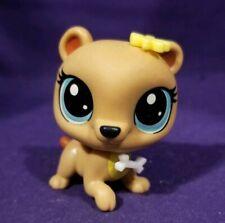 Littlest Pet Shop Odessa Orso Tan Brown Mommy Bear #327 Blue Dot Eyes Hasbro LPS