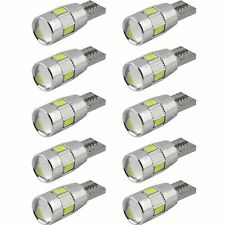 10pcs Canbus Error Free T10 194 W5W Led 5630 6smd Lamp Bulb White/Blue/Red/Amber