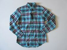 NWT Polo Ralph Lauren Cerulean Plaid Button Down Stretch Oxford Sport Shirt M