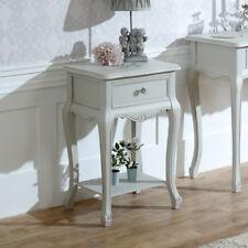 Elise Grey Range 1 Drawer Lamp Table Bedside Table French Bedroom Crystal Handle