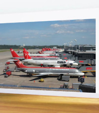 Northwest Airlines DC-9 with Airport Codes - 8' x 12' Wall Mural
