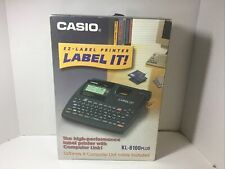 Casio Ez Label Printer Kl 8100 Plus With Ac Adapter Large Display Open Box