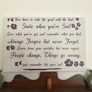'Life goes on' Wall Art Quotes Vinyl Wall Sticker, DIY Wall Decal - HIGH QUALITY
