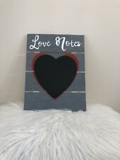 Wooden Love Note Chalk Board