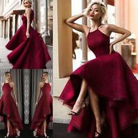 Sexy High Low Lace Prom Dresses Cocktail Party Ball Formal Evening Gowns Custom