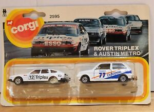 Corgi 2595 Rover Triplex and Austin Metro Racing/Rally Brand New in Packaging
