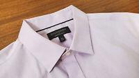 Banana Republic Men's Button Shirt Slim Fit Non-Iron  Purple Long Sleeve Medium