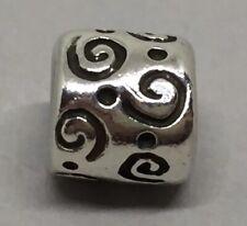 GENUINE PANDORA Sterling Silver 925 Ale Swirls & Dots Charm 790124