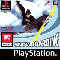 MTV Sports Snowboarding Playstation 1 Game PS1 Used Complete