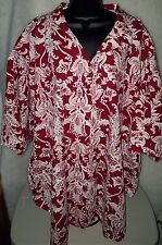 A Personal Touch Womens Multi Color Floral Button Down Shirt Top Size 56 4X / 5X