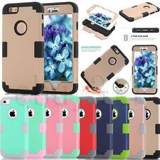 Shockproof Hybrid Triple Layer Hard Case Cover For iPhone 5G/6/7 Plus Touch 5/6