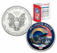 ST. LOUIS RAMS 1 Oz American Silver Eagle $1 US Coin Colorized NFL LICENSED