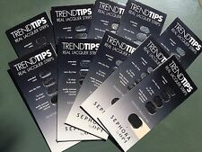 (5x) Sephora Opi Trend Tips Nails - Real Lacquer Strips - Black w/ Gold Flakes 5