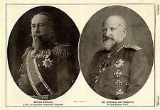 1915 * Verbündete Bulgarenführer * General Todorow & Zar Ferdinand *  WW1