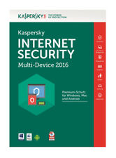 Kaspersky Internet Security 2018 - 1 Jahr/5 PC Download Code