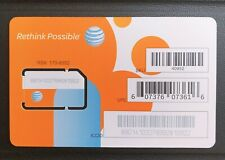 AT&T Standard Sim Cards, Unactivated, Brand New