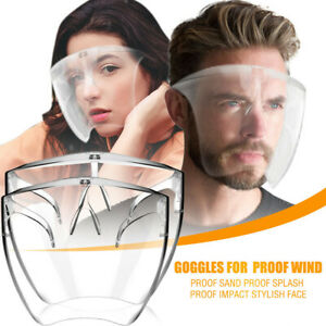 Men Women Face Shield Visor Protection Mask PPE Shield Transparent Clear Plastic