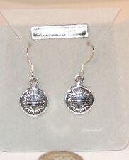 Sterling Silver Aztec Sun Wire Earrings  (7259)
