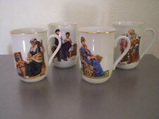 1982 set of 4 Norman Rockwell cups