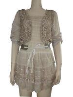 mujer Vestido de encaje italiano Conjunto de 2 piezas top de encaje para dama