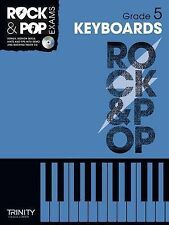 Rock & Pop Exams Keyboards Grade 5 Keyboard Music Book & CD Trinity College S22