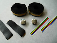 "Iscaselle handlbar tape black ""Faux Leather"" Vintage Road Racing Bicycle NOS"