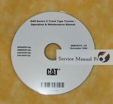 SEBU6374 CAT Caterpillar D4H Track Type Tractor Operation Maintenance Manual CD