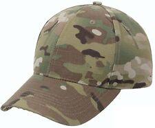 Mens MultiCam Hat Low Profile Multi Cam Camo Camouflage Adjustable Vented Cap
