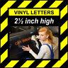 12 Personaggi 6.3cm 64mm Alto Pre-spaced Bastone Su Lettere & Numeri IN Vinile