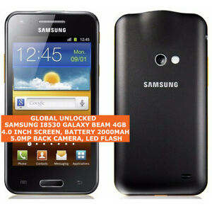 "SAMSUNG I8530 GALAXY BEAM Dual-Core 5mp Camera 4.0"" Android Smartphone Black"