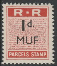 Rhodesia (641) 1951 RAILWAY PARCEL STAMP 1d opt'd MUF for Mufulira unmounted