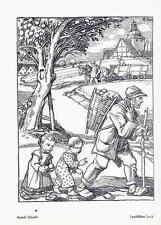 Rudolf SCHIESTL - FRÄNKISCHES LAND - Strichätzung 1918 HEYDER Verlag BERLIN