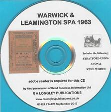 Warwick & Leamington Spa 1963 Directory [Kelly's] on CD