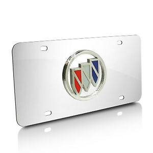 Buick Logo Chrome Stainless License Plate