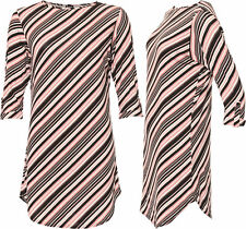 Striped Crew Neck Tops & Shirts Plus Size for Women