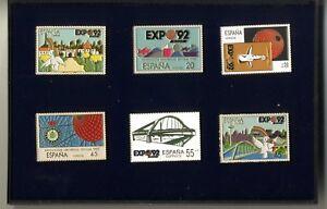 6 Pin Exposicion Universal de Sevilla 1992 Expo 92 reproducciones sellos Correos